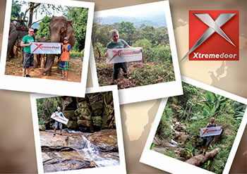Ian with the XtremeDoor brand in extreme locations
