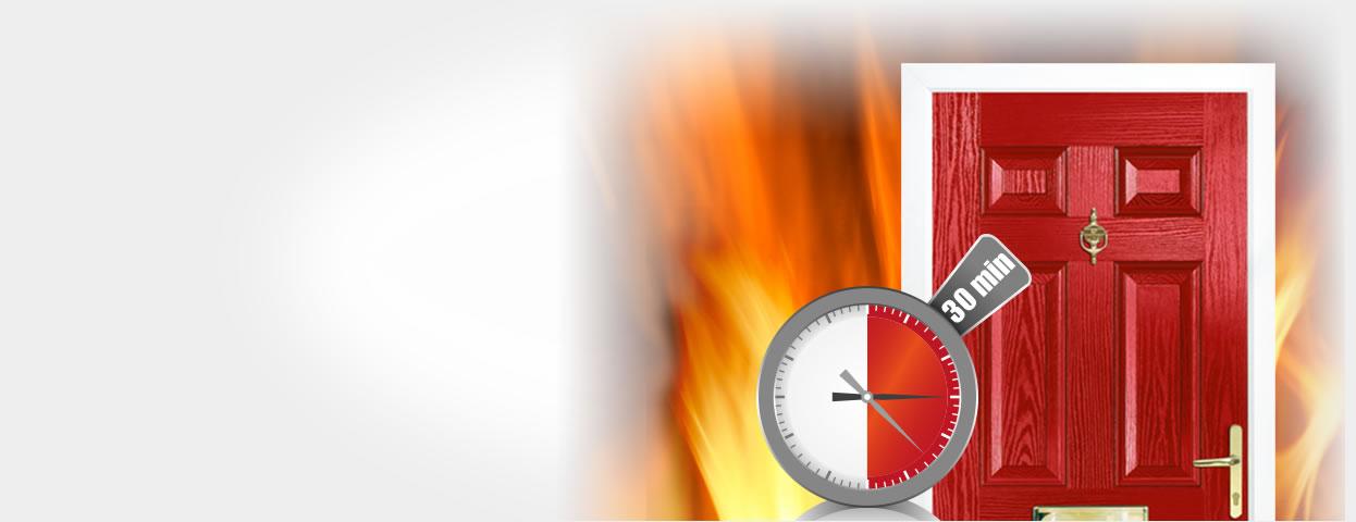 Fire composite door with 30 mins performance