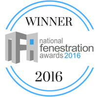 National Fenestration Awards 2016 winner badge