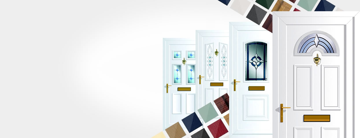 uPVC door panels in a range of styles and colours