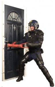 Vista Panels secured by design composite doors tested by police in riot gear
