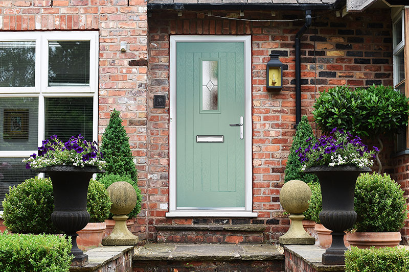 Chartwell green composite entrance door & Composite doors | GRP u0026 Foam core | Trade supplier | Vista Panels Ltd