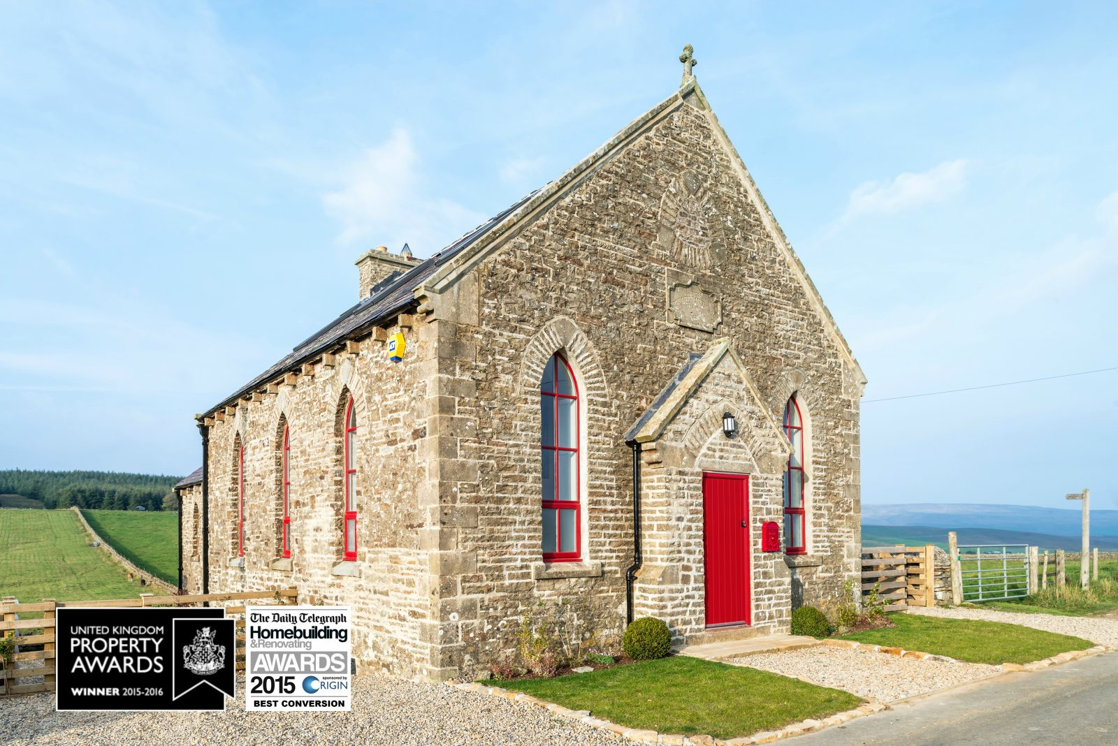 Award winning PVCu fabricator, Vista Panels were proud to add the XtremeDoor composite door to a derelict Victorian chapel, as part of a renovation project.