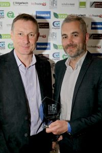 Ian Smith, Business Development Manager picks up last year's National Fenestration Award