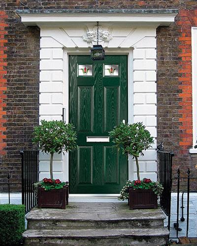 Green composite home door