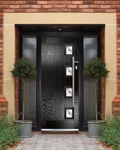 Jet black Xtreme composite door