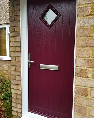Red Xtreme composite door