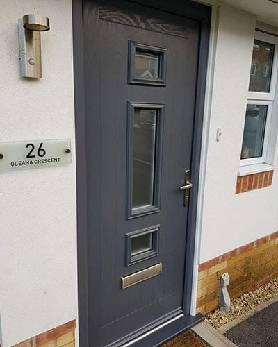Grey composite door from Xtreme