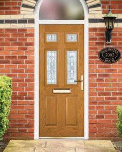 Xtreme oak composite door