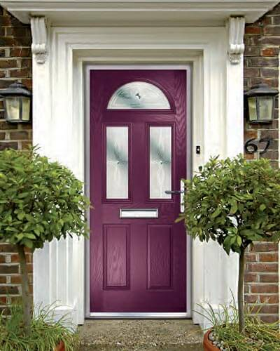 Purple composite door from Xtreme