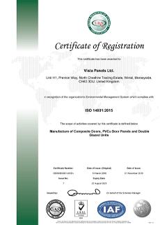 ISO 14001 2015 Cert Nov 2018