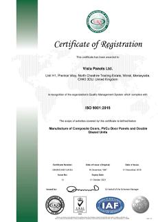 ISO 9001 2015 Cert Nov 2018