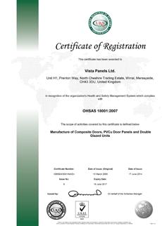 OHSAS 18001 - 2007 Certificate