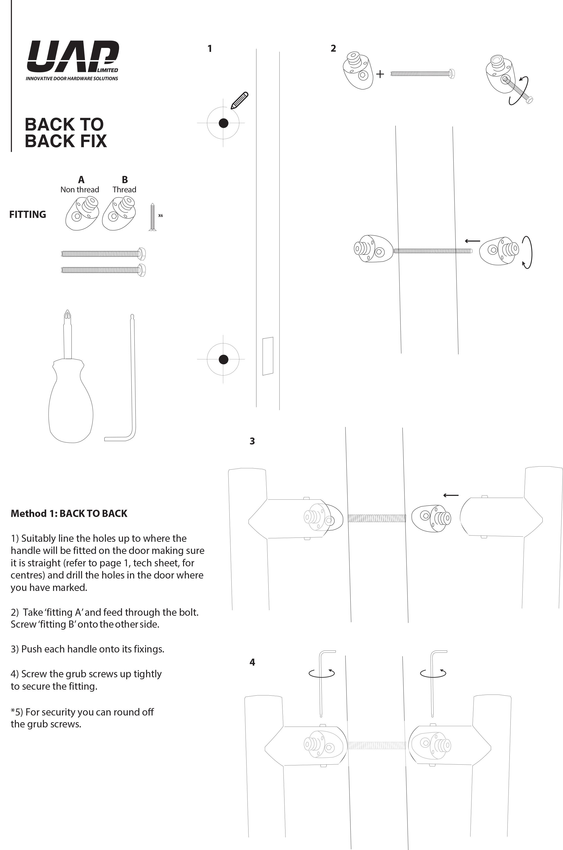 Offset pull handle instructions