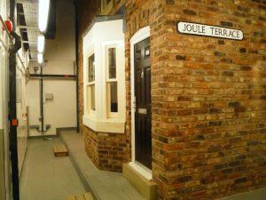 Black front door installed on Salford University's Energy House