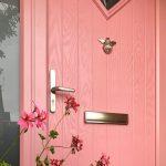 Pink composite front door