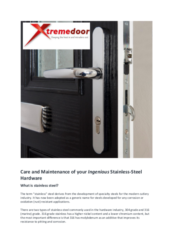Xtremedoor Care Guide