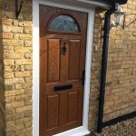Oak traditional front door