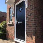 Black front entrance door
