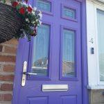 Lilac purple composite front door