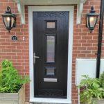 Jacobean Black composite front door