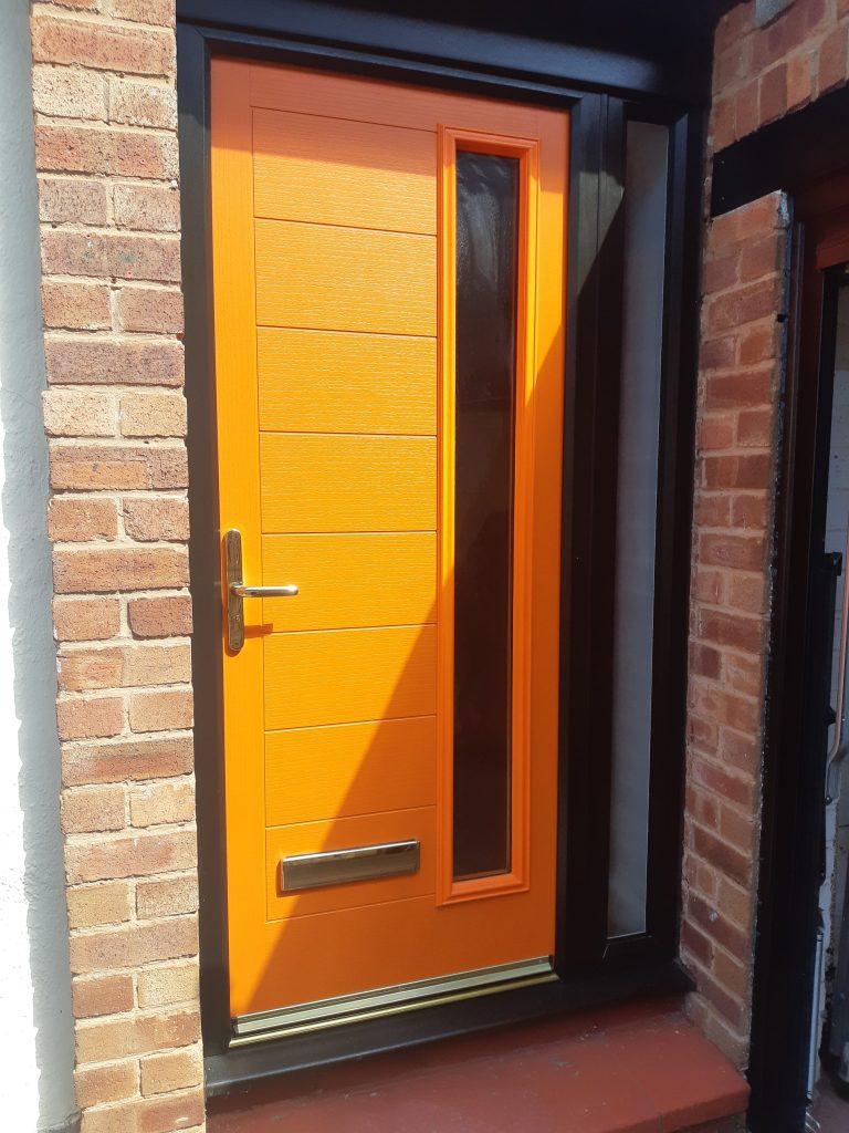 Orange modern front door