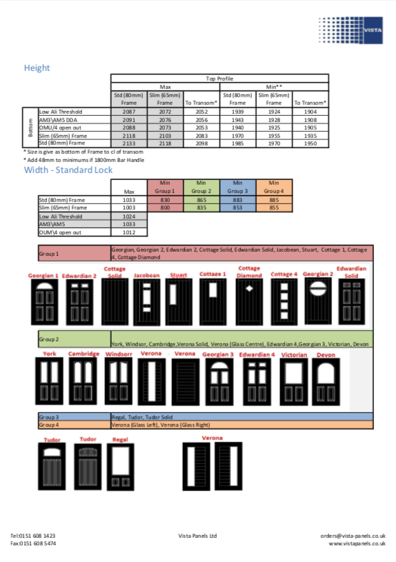 Xtremedoor door styles