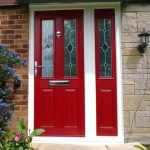 Red York Kara Zinc front door