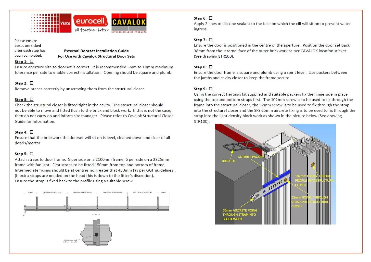 External Door Set Installation Guide graphic